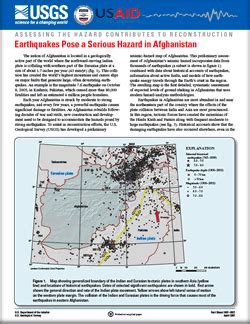 usgs projects in afghanistan 187 earthquake hazards usgs fact sheet 2007 3027 earthquakes pose a serious