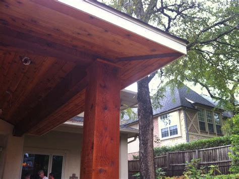 Large Patio Cover by Large Patio Cover With Big Eaves Shingles And Lights