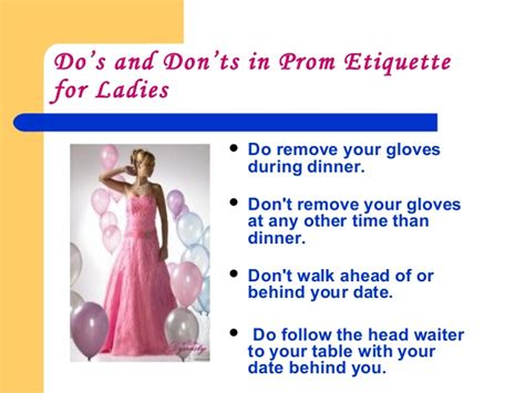 7 Etiquette Tips For A Date by Social Graces For Junior Senior Prom
