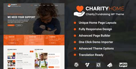 Charity Home Charity Fundraising Wordpress Theme Nulled Download Charity Website Design Templates
