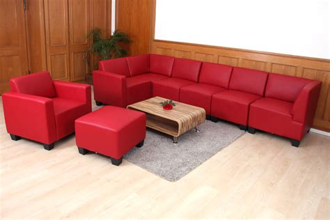 ottomane einzeln modular sessel loungesessel mit ottomane lyon kunstleder