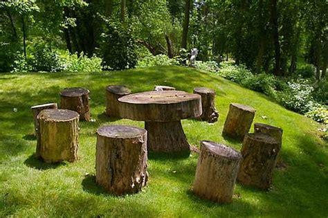 bench around tree trunk 30 unique garden design ideas
