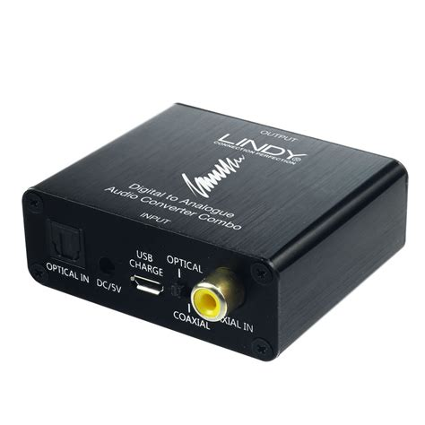 Special Stereo Converter spdif digital to analogue stereo audio converter combo from lindy uk