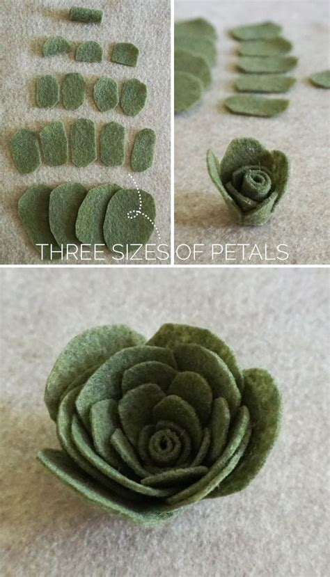 rustic paper flower tutorial a felt succulents tutorial for all your rustic