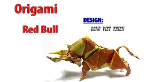 Bull Origami - how to fold origami bull dong viet thien