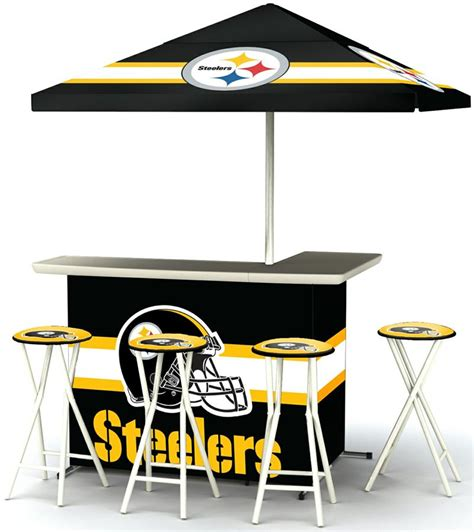 pittsburgh steelers deluxe portable tailgate bar set