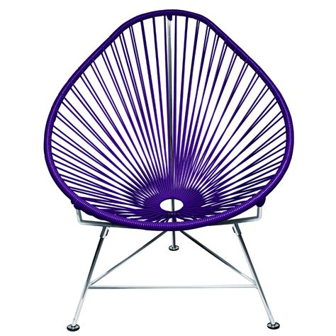 acapulco chair modern acapulco chair with cord seat and chrome frame