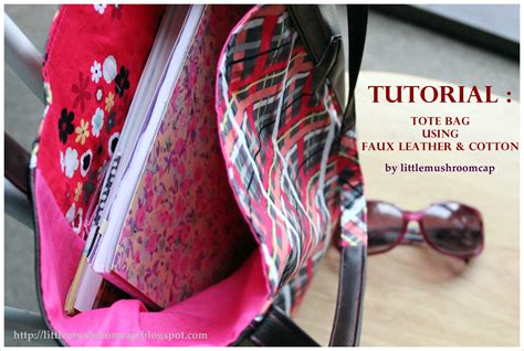 sewing tutorial tote bag using faux leather and quilting