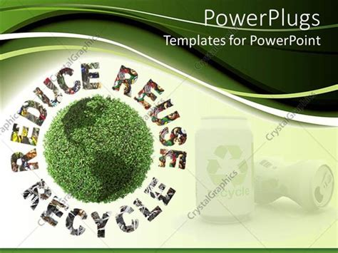 Powerpoint Template Reduce Reuse Recycle Words Graming Reduce Reuse Recycle Ppt