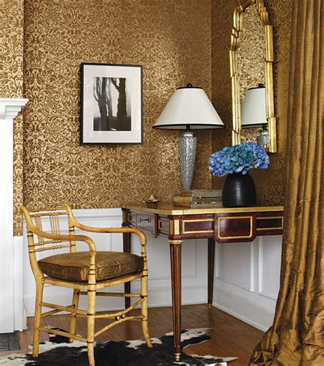 Gold Living Room Decorating Ideas by Wallpaper For The Home
