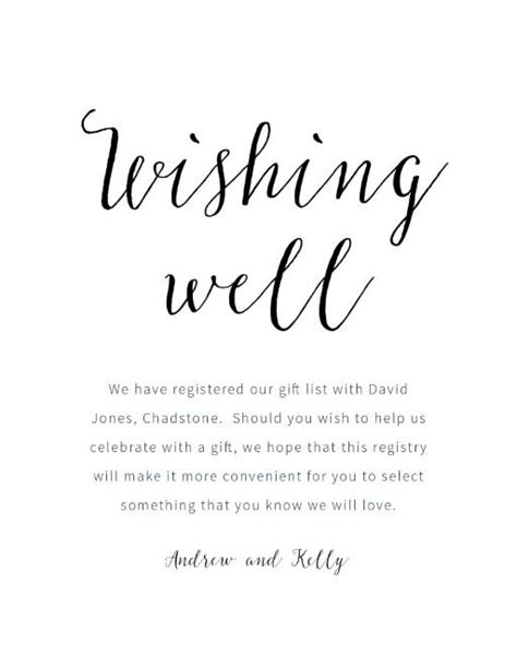 what to write on a wedding wishing well rustic digital printing wishing well