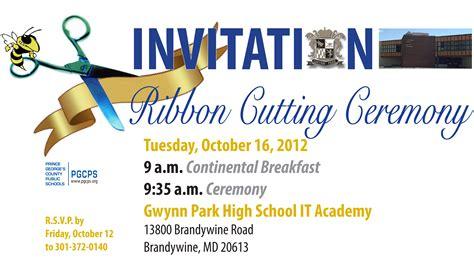 gwynn park hs it academy ribbon cutting ceremony