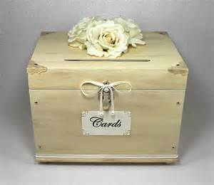 vintage wedding card box ivory wooden wedding card box trunk vintage shabby chic