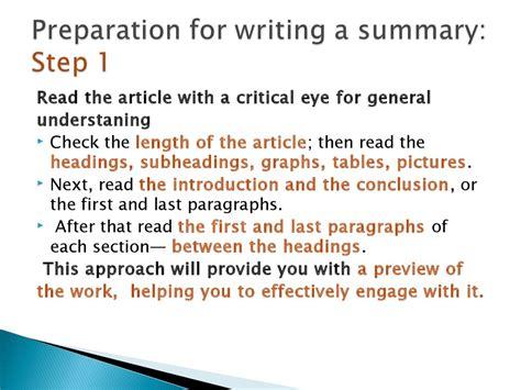 writing a summary guidelines презентация онлайн
