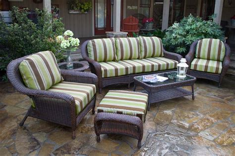 tortuga outdoor lexington wicker 6 piece deep seating sofa