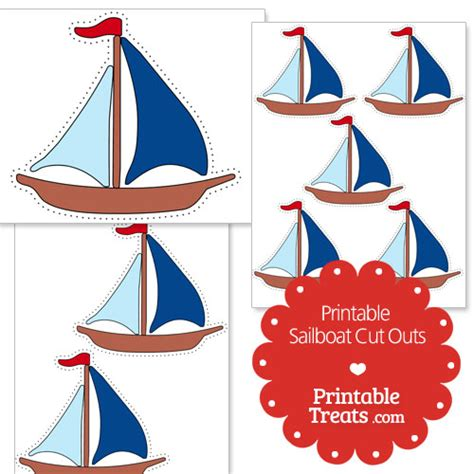 boat cut out printable sailboat cut outs printable treats