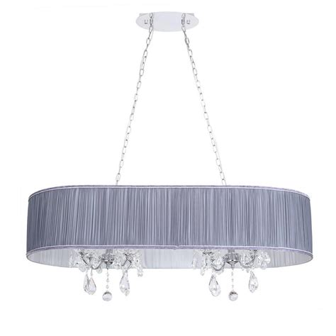 Grey Chandelier Shades L Amour 8 Light Chandelier In Pleated Shade Grey From Litecraft