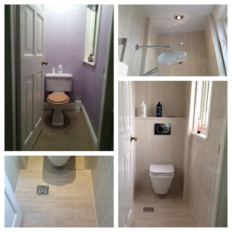 convert bathroom into wet room cloakroom transformed into smart wet room home ideas