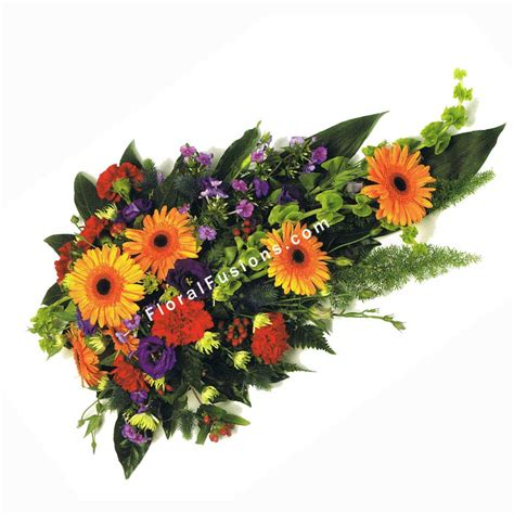 Colorfull Flower Sprei colourful spray funeral flowers leicester funeral