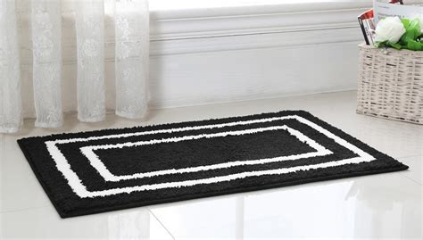 black bathroom rug black and white bathroom rugs www imgkid com the image