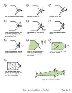 How To Make A Origami Shark - origami animals on sharks dollar and schematic