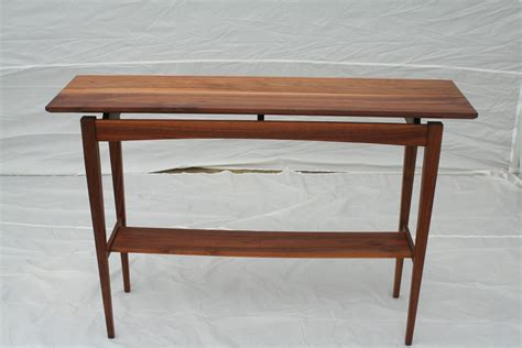 made walnut sofa table by wood in motion custommade