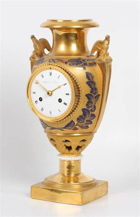 french empire gilt sevres urn mantel clock circa