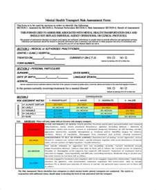 risk assessment template mental health 27 sle assessment form exles free exle sle