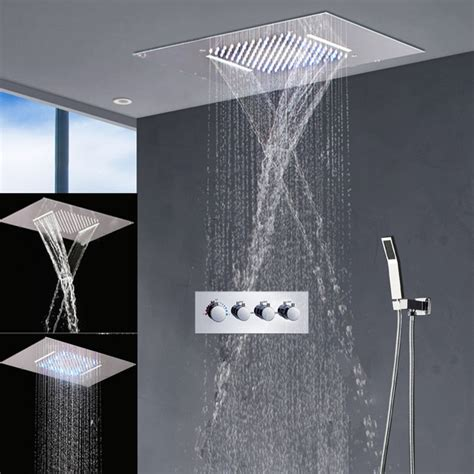 modern bathroom fixtures led shower set big shower