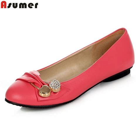 Promo Flat Shoes Sneaker Pink Terjangkau asumer summer new fashion flats white black pink green s flat shoes