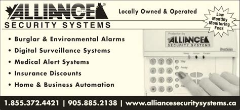 alliance home security system 28 images security