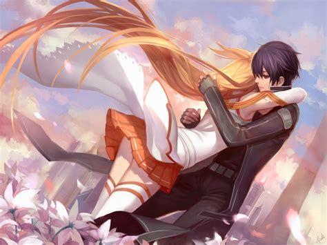 hd wallpaper of anime couple multimedia internet sword art online sword art online
