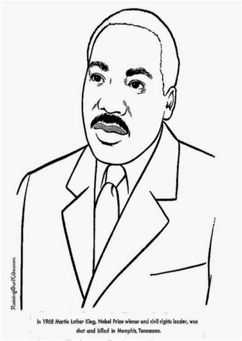 martin luther king jr coloring sheets march 2015 free coloring sheet