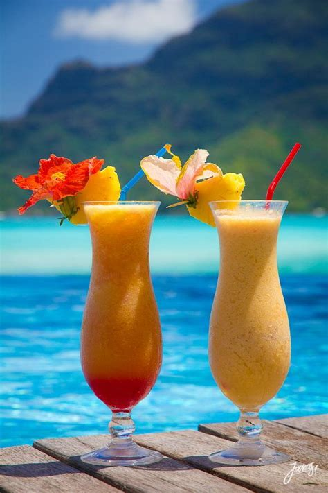 virgin boat drinks cocktails in paradise bora bora drinks pinterest