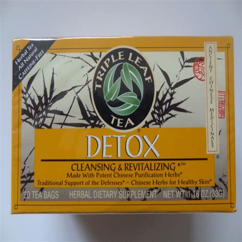 Medicinal Tea Detox Leaf Tea 20 Bag by Detox Cleansing Revitalizing Herbal Tea By Leaf