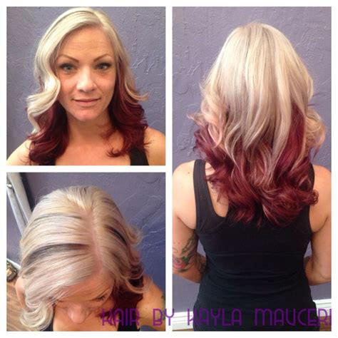 3 tone hair color two tone hair color ideas for hair www pixshark