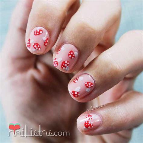 imagenes de uñas cortas u 241 as cortas decoradas de oto 241 o nail art de setas