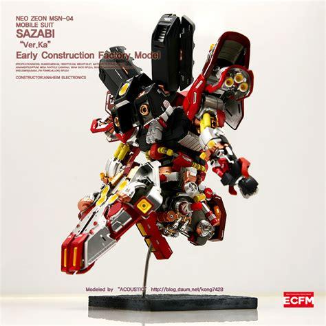 Gunpla Mg 1 100 Sazabi Ver Ka Dalam Model custom build mg 1 100 msn 04 sazabi ver ka open hatch