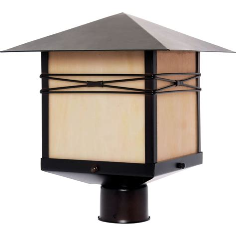 Outdoor Pier Lights Taliesin Collection 1 Light 13 Quot Burnished Outdoor Pier Post Mount With Iridescent Glass 8044irbu
