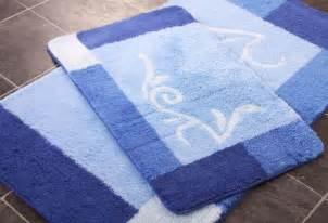 Blue Bathroom Rug Sets Four Blue Bathroom Rug Set Washable Non Slip Bath Mats Ebay