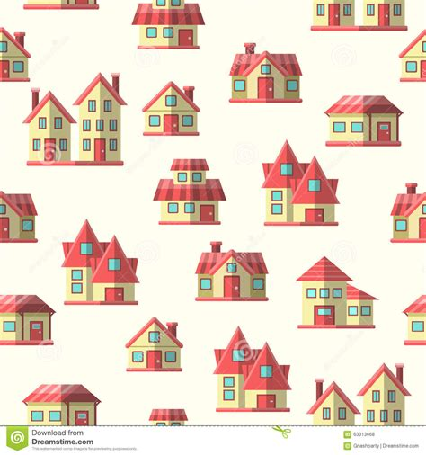 house pattern vector vector houses seamless pattern background stock vector