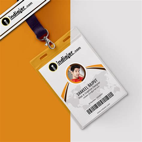 Office Card Template by Modern Office Identity Card Free Psd Template Indiater