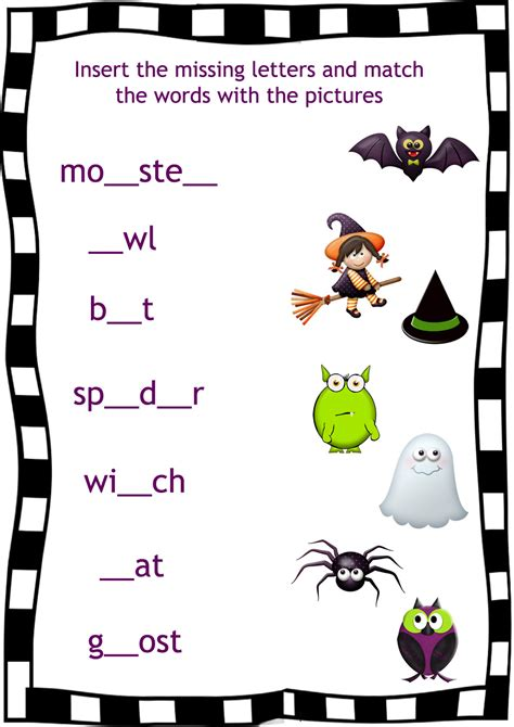 printable worksheets halloween this scary night halloween song for kids