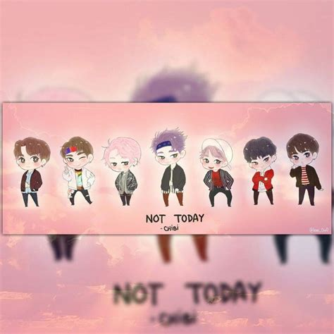 fanart bts chibis not today version army s amino