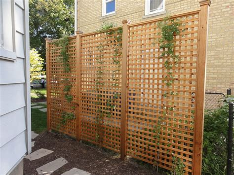 Garden Fence Screening Ideas Backyard Screens Outdoor Home Design Ideas With Light Brown Solid Wood Lattice Screen