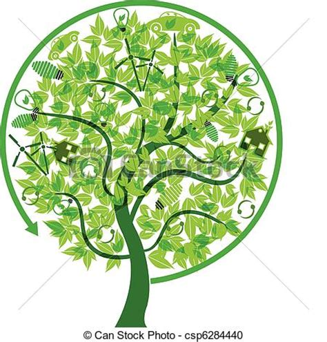 Eco Friendly Tree Concept Vector Illustration Of A Eco Friendly Concept Technology Tree Green Eco Tree Vector Free