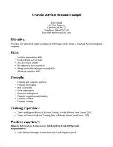 Financial Advisor Resume Example Financial Advisor Resume Incident Report Template