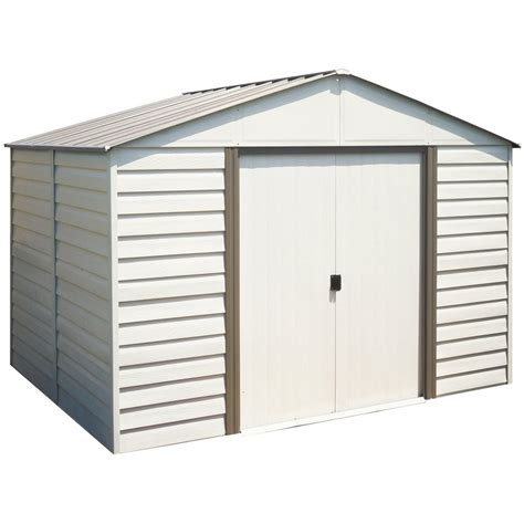 Lowes Vinyl Storage Sheds by Arrow 10 Ft X 8 Ft Vinyl Coated Steel Storage Shed Lowe