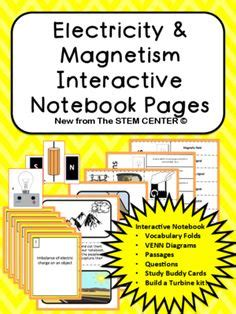 section 2 electricity and magnetism photosynthesis interactive notebook from stem center on