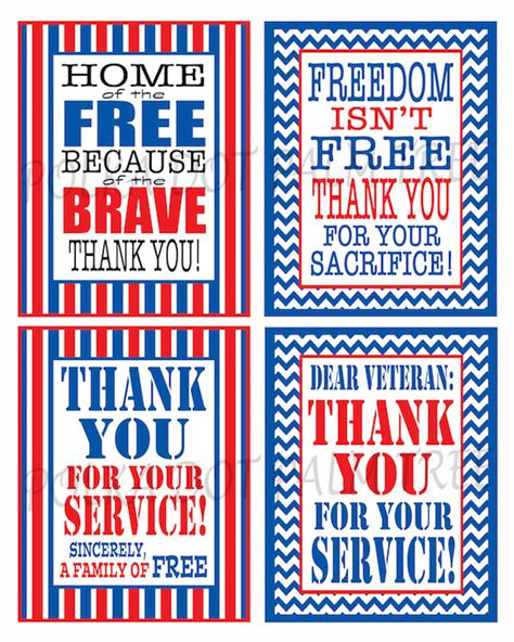 thank you army card template instant printable veteran patriotic thank